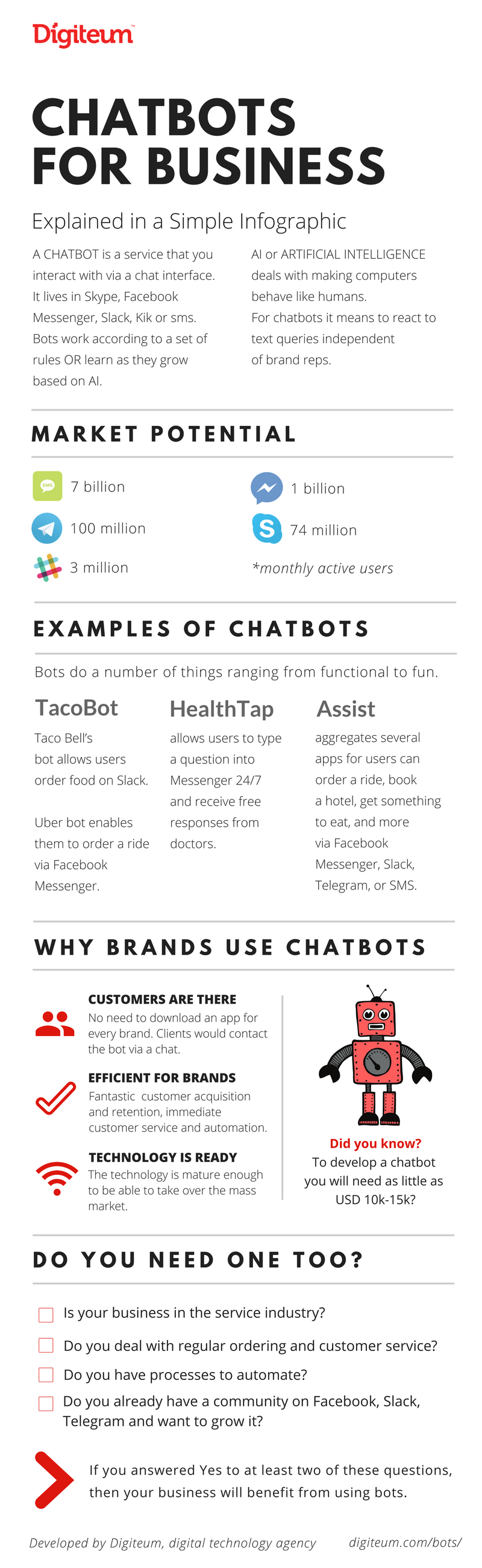 Facebook chatbot for business