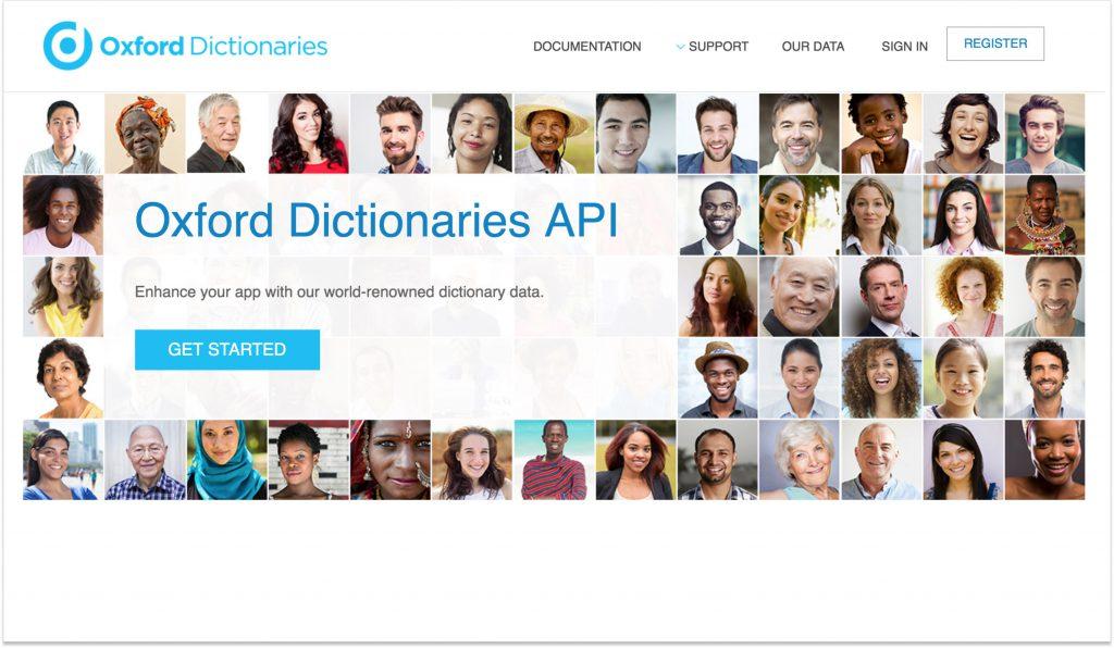API Oxford Dictionaries