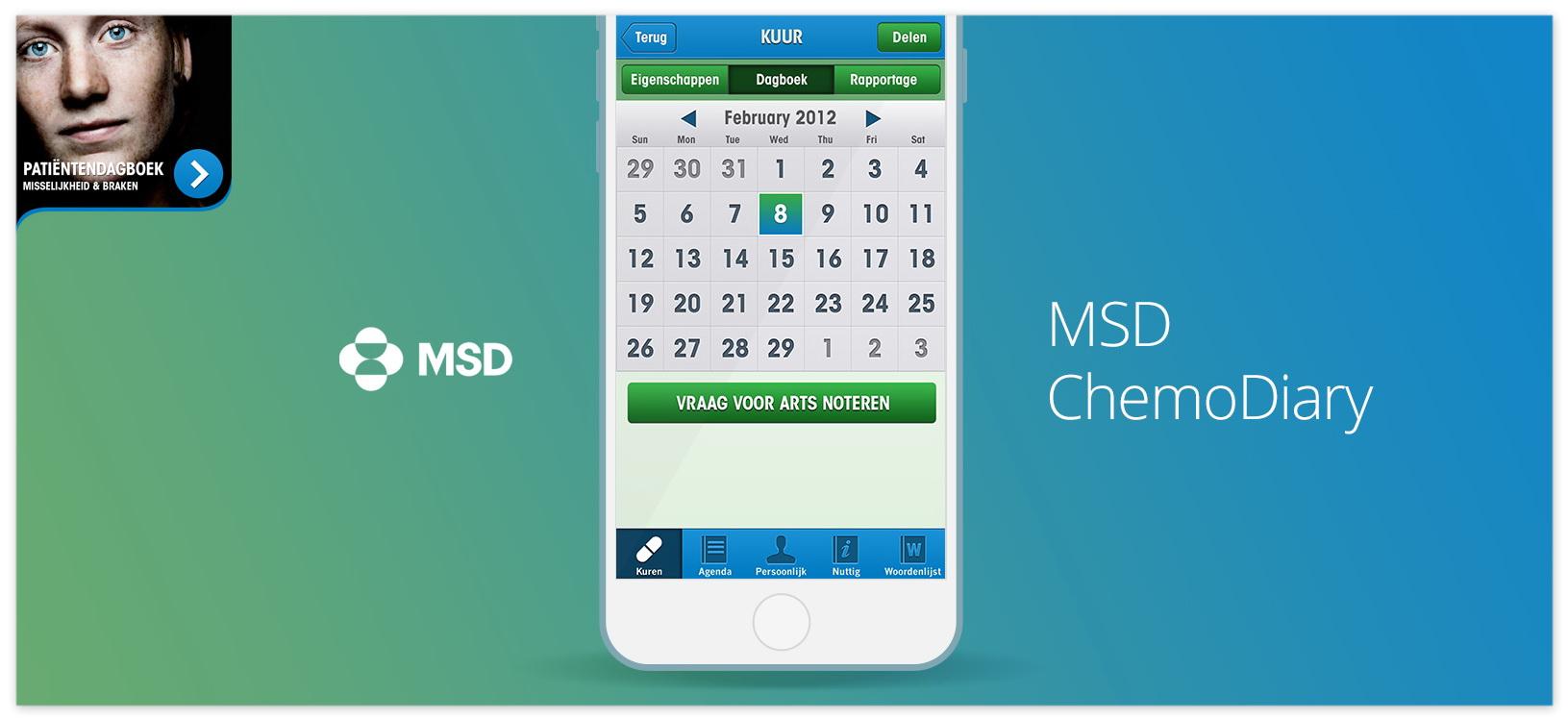 MSD ChemoDiary Patient Engagement App large