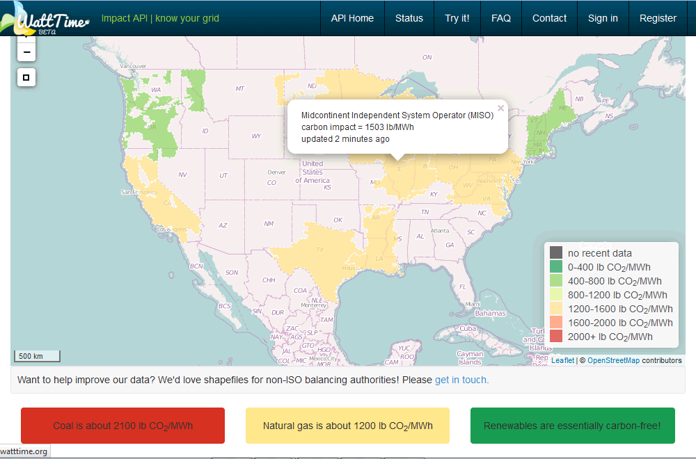 watttime map