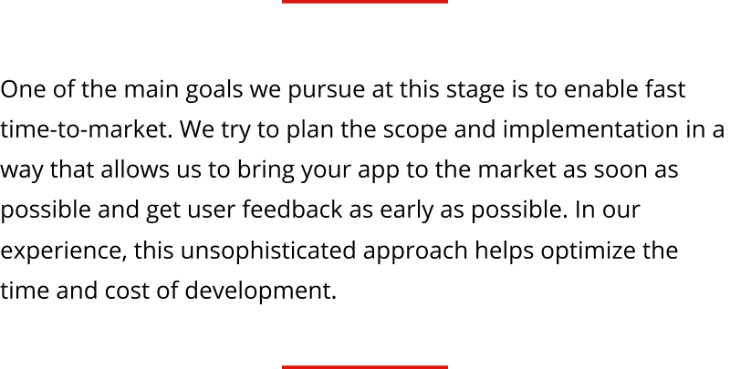fast time to market in mobile app development